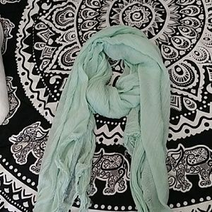 Charming Charlie Mint Green Fashion Scarf